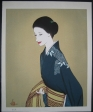 thumbs keiichi takasawa image of a beauty Woodblock Prints