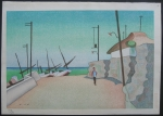 thumbs noriyuki ushijima izu fishing village Woodblock Prints