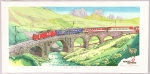 thumbs osamu sugiyama glacier express Woodblock Prints