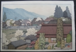 thumbs toshi yoshida village of plums Woodblock Prints