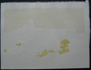 Toshi Yoshida First Colour 300x231 Toshi Yoshida Castle of Himeji Woodblock Set