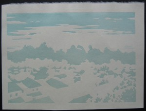 Toshi Yoshida Second Colour 300x227 Toshi Yoshida Castle of Himeji Woodblock Set